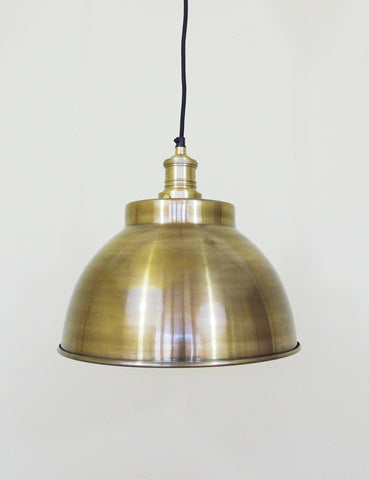 Industrial Brass Copper Dome Ceiling Light
