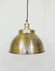 Industrial Brass Copper Dome Ceiling Light | The Den & Now