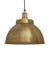 Industrial Brooklyn Dome Brass Pendant Light by Industville