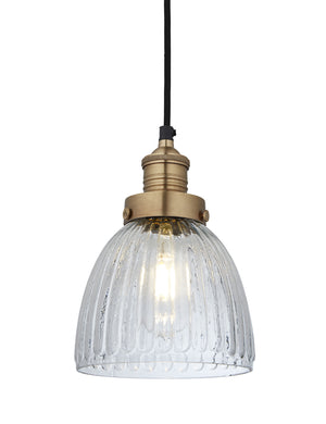 Industrial Brooklyn Glass Cone Pendant Light by Industville