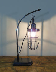 Industrial Cage Desk Lamp | The Den & Now