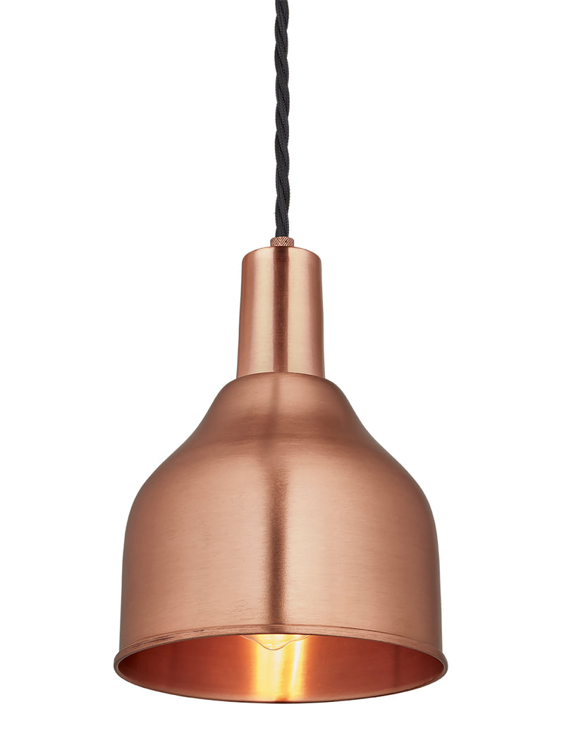 Industrial Copper Sleek Cone Pendant Light by Industville - Copper Holder
