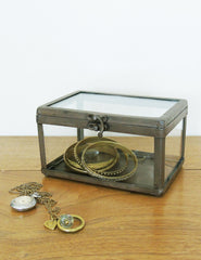 Industrial Glass Jewellery Box | The Den & Now