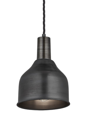 Industrial Pewter Sleek Cone Pendant Light by Industville - Pewter Holder