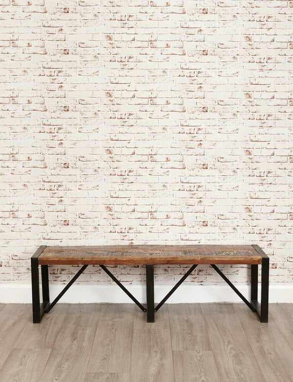 Industrial Reclaimed Bench | The Den & Now