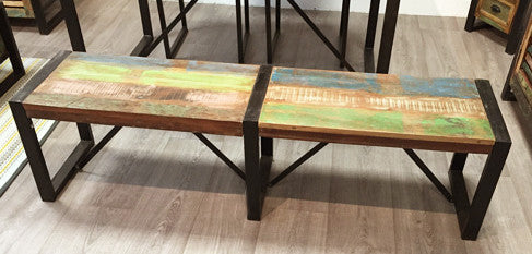 Industrial Reclaimed Bench
