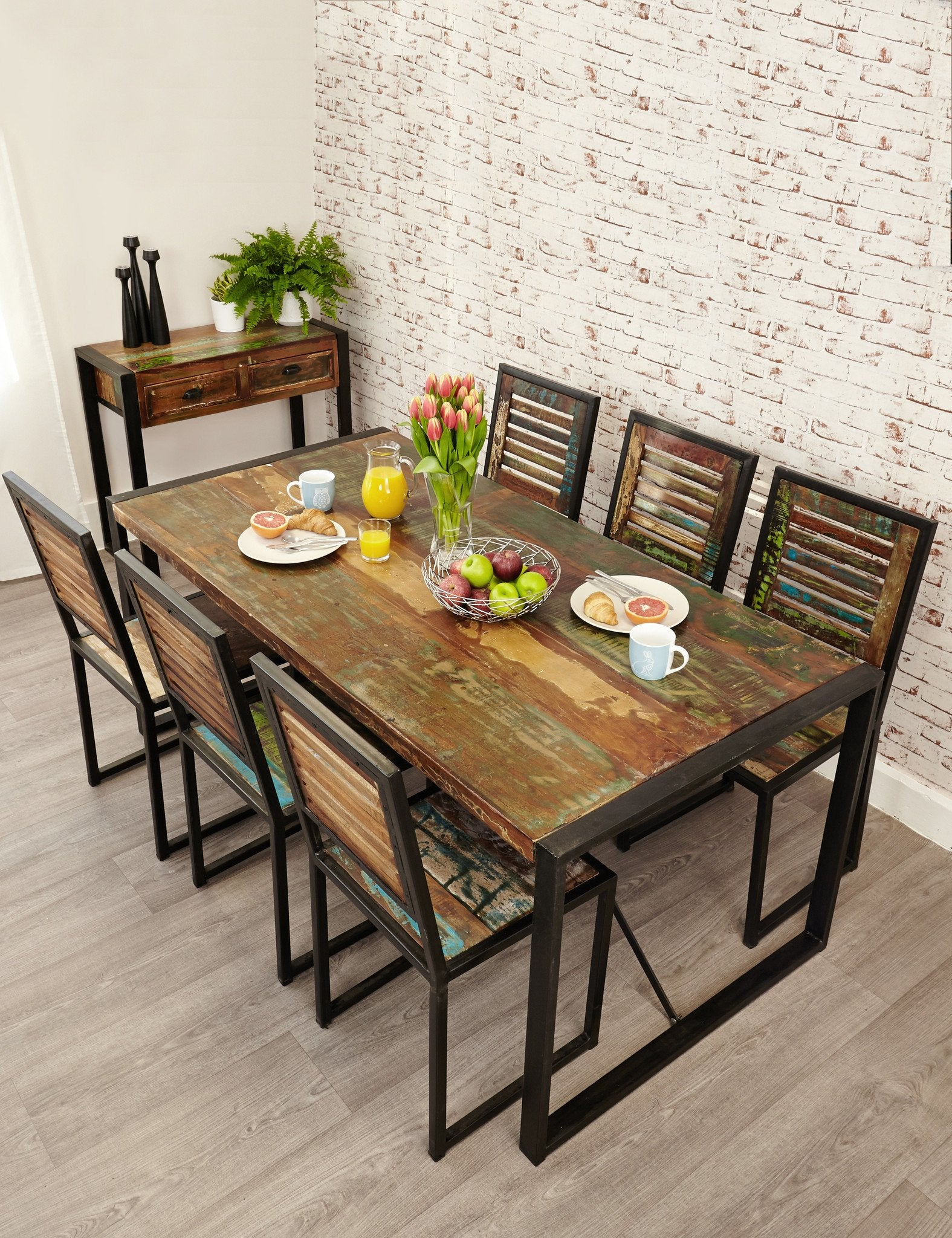 Industrial Reclaimed Dining Table The Den Now