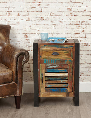 Industrial Reclaimed Side Table Cabinet