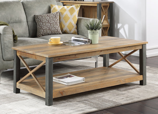 Industrial Rustic Large Coffee Table