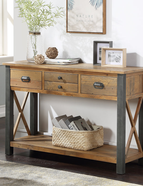Industrial Rustic Console Table
