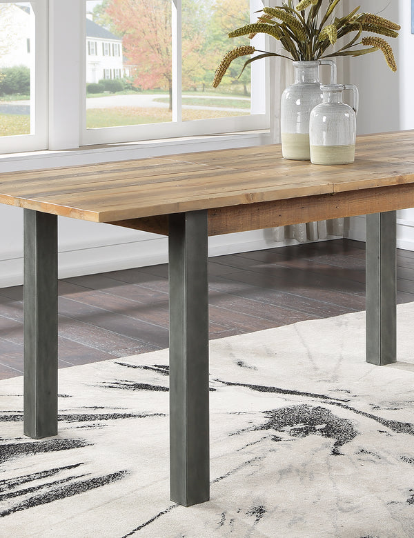Industrial Rustic Extending Dining Table