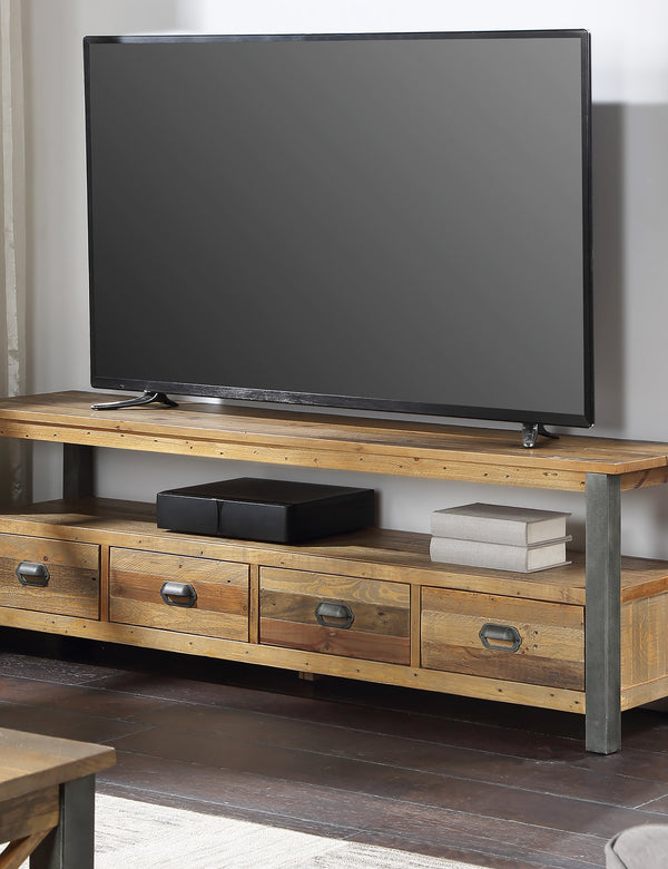 Industrial Rustic Large Widescreen TV Stand