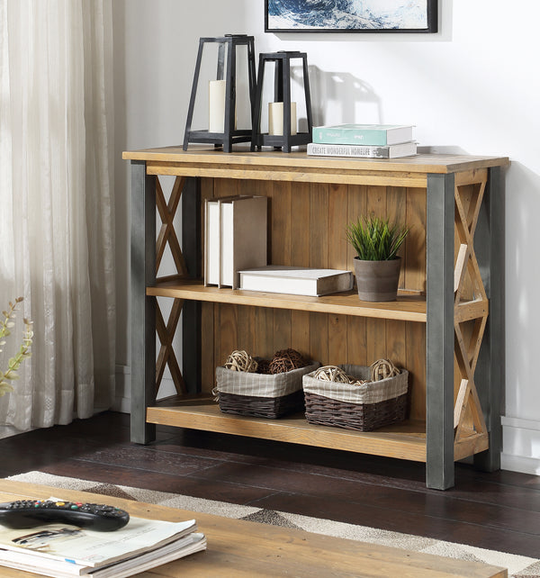Industrial Rustic Low Bookcase