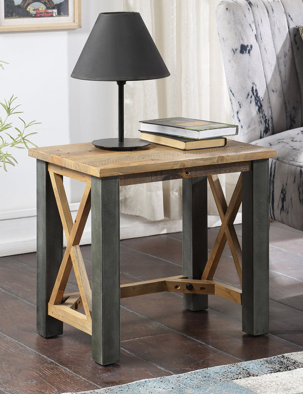 Industrial Rustic Side Table