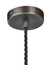 Industrial Pewter Sleek Cone Pendant Light by Industville - Pewter Ceiling Rose