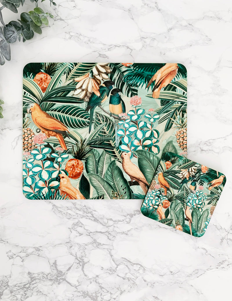 Jungle Flowers & Birds Artist Coaster