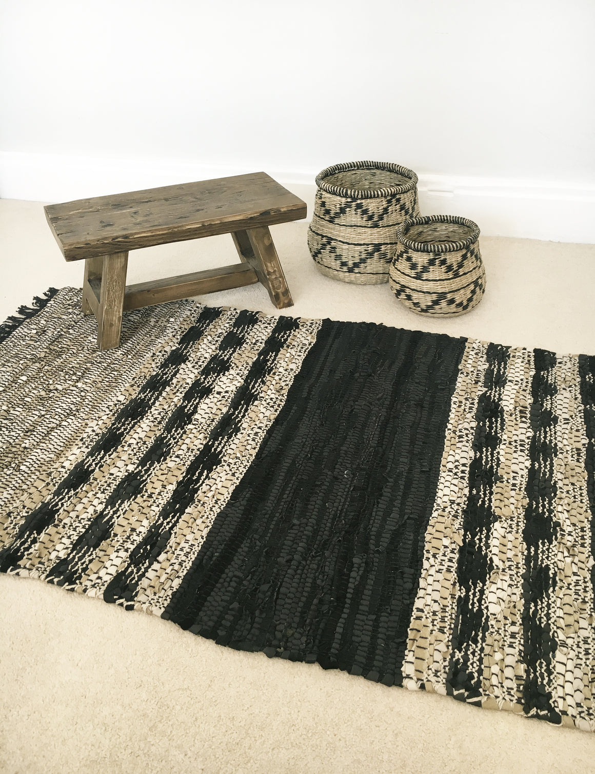Leather Woven Rug