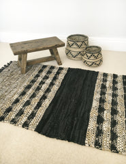 Leather Woven Rug | The Den & Now