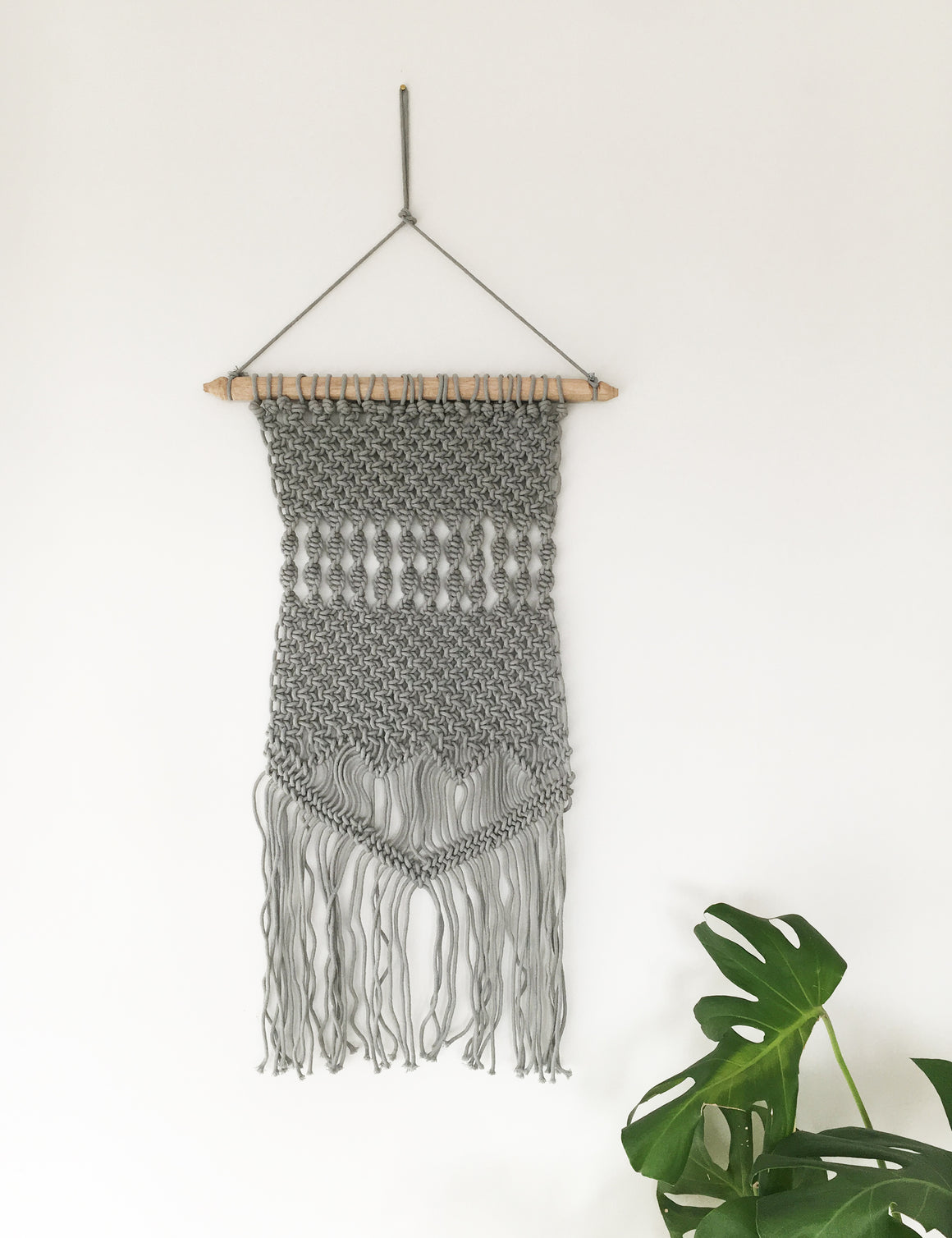 Macrame Wall Hanging - Dusky Grey