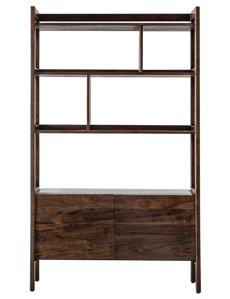 Malmo Wood & Marble Freestanding Shelving Unit