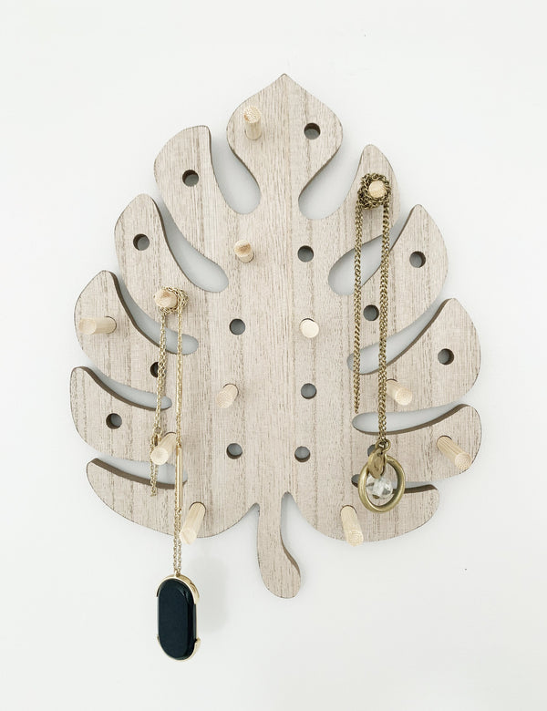 Monstera Wooden Peg Board