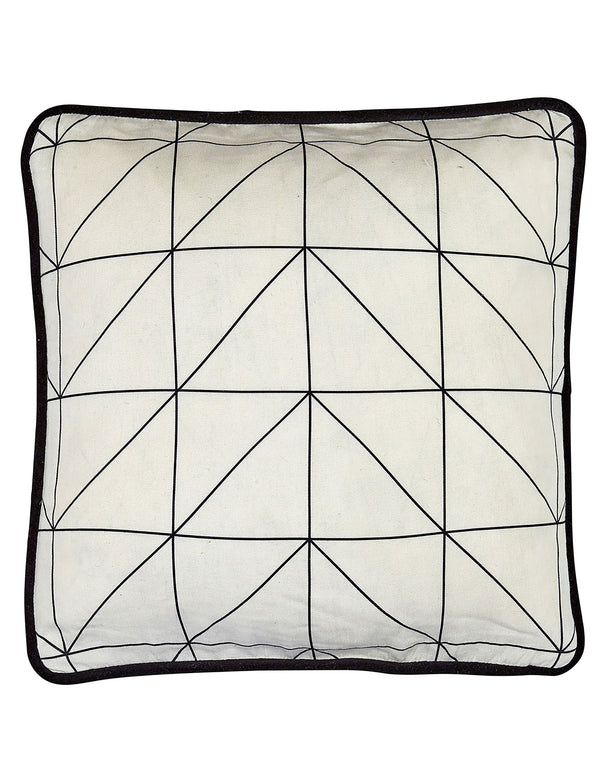 Natural Geometric Print Cushion