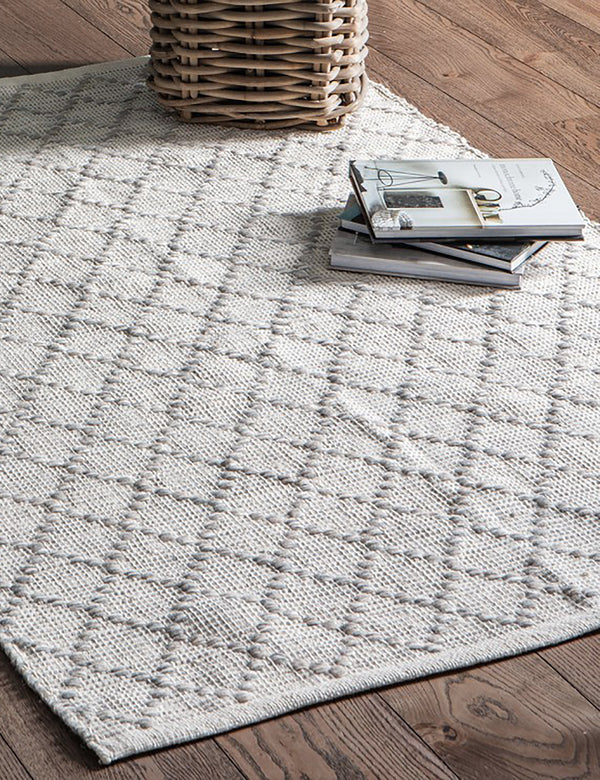 Natural Geometric Textured Rug