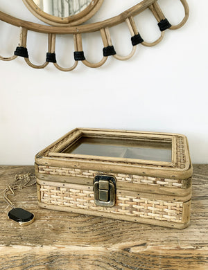 Rattan Natural Jewellery Box