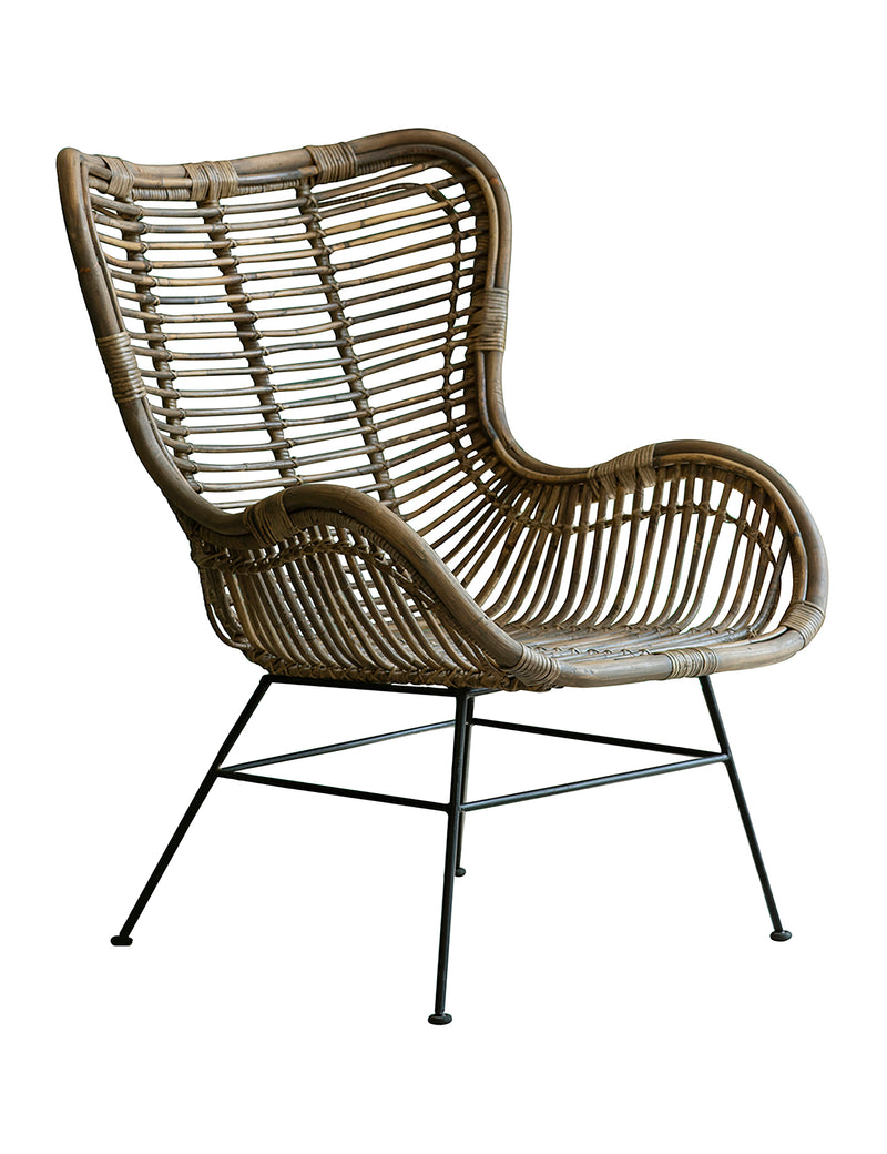 Rattan Natural Lounger Chair