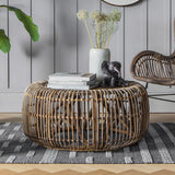Natural Rattan Round Coffee Table