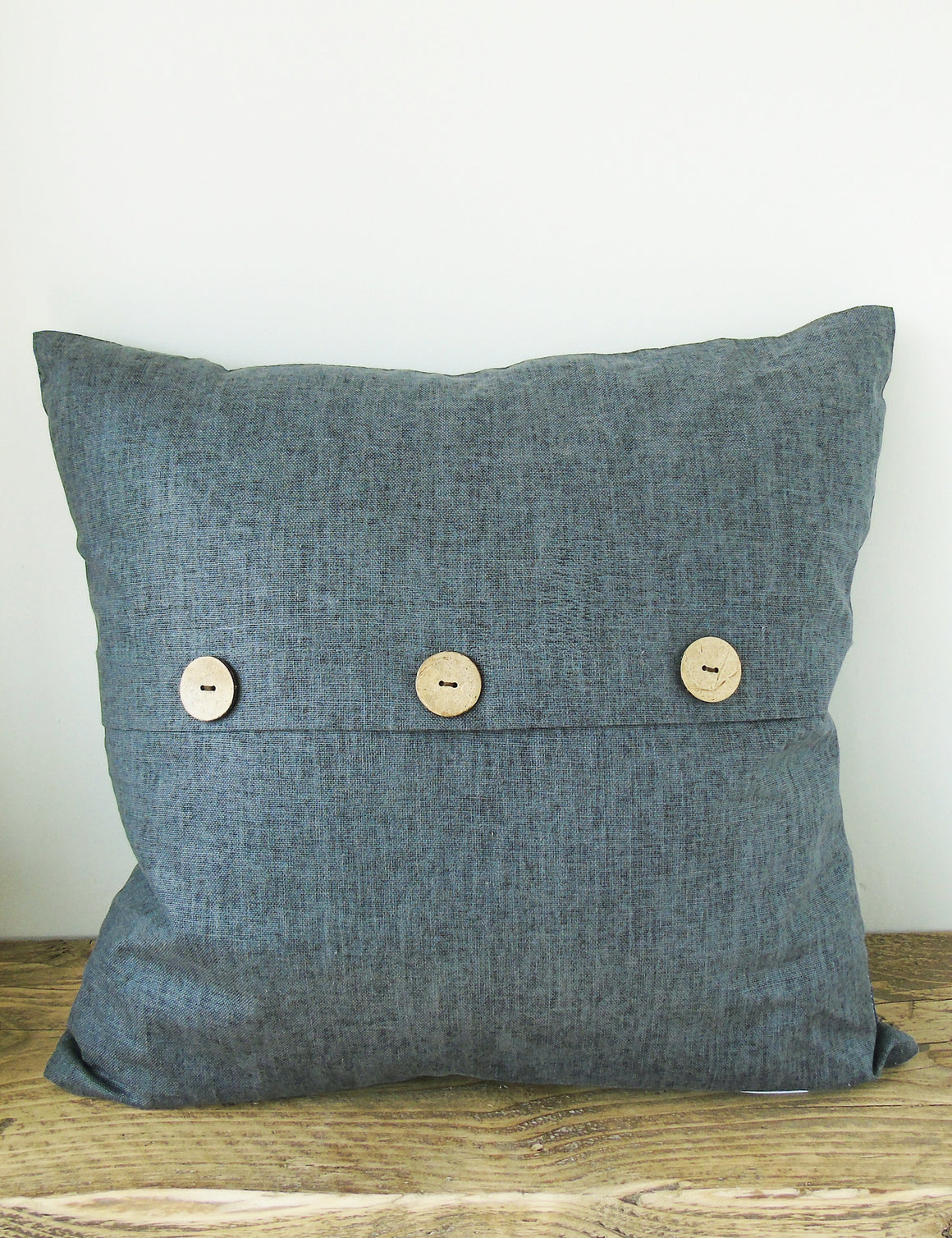 Navy Chambray Cushion