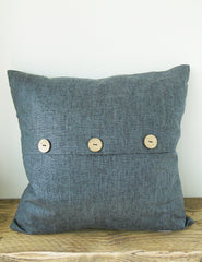 Navy Chambray Cushion | Buy Stylish Homeware | The Den & Now
