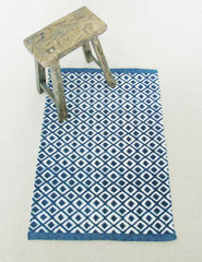 Blue Geometric Print Rug | Buy Stylish Homeware | The Den & Now