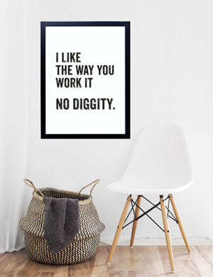 No Diggity Lyric Typography Print