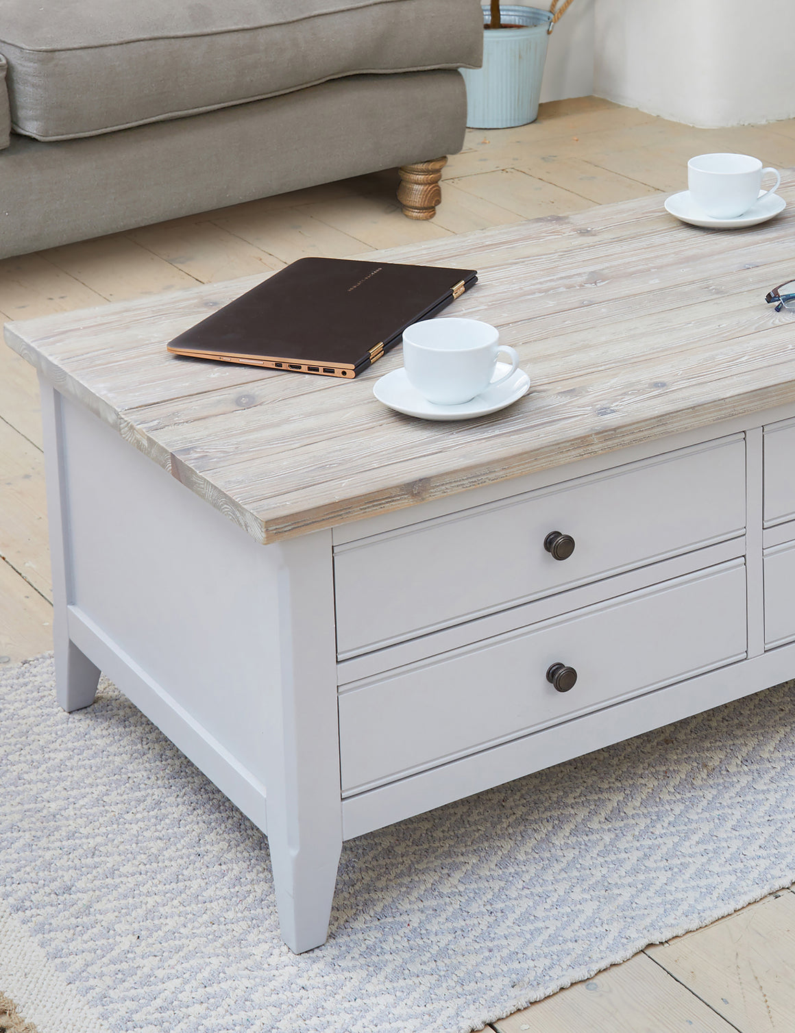 Nordic Grey Large Coffee Table