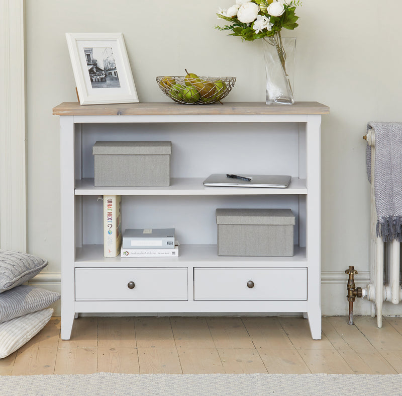 Nordic Grey Low Bookshelf