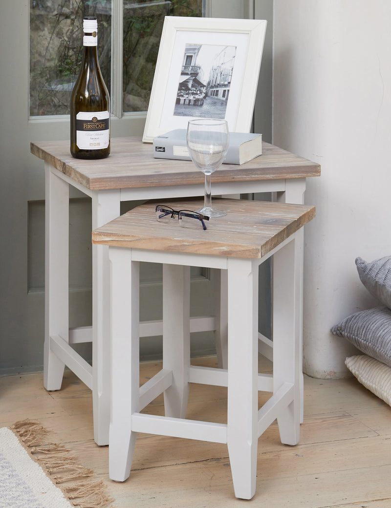 Nordic Grey Nest of Two Tables