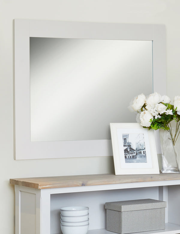Nordic Grey Rectangular Mirror