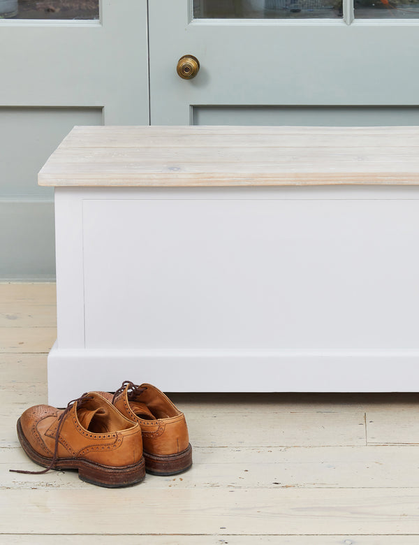 Nordic Grey Storage Trunk & Bench