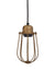 Orlando Vintage Cage Brass Pendant Light by Industville