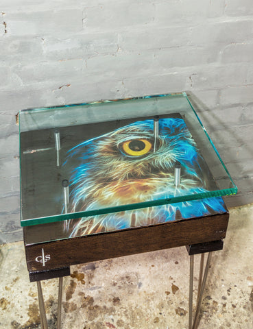 Owl Reclaimed Side Table
