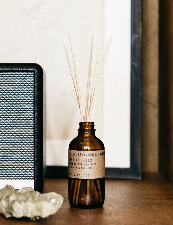 P.F. Candle Co. No. 04 Teakwood & Tobacco Reed Diffuser