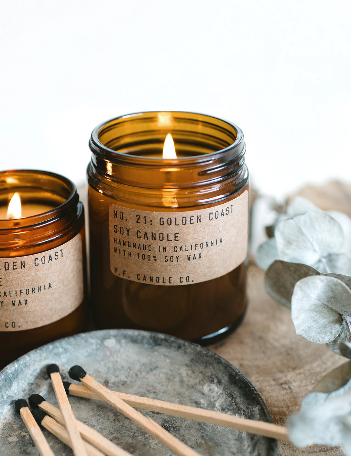 P.F Candle Co. No. 21 Golden Coast Soy Candle