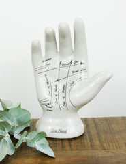 Palmistry Phrenology Hand Ornament | Buy Vintage Homeware | The Den & Now