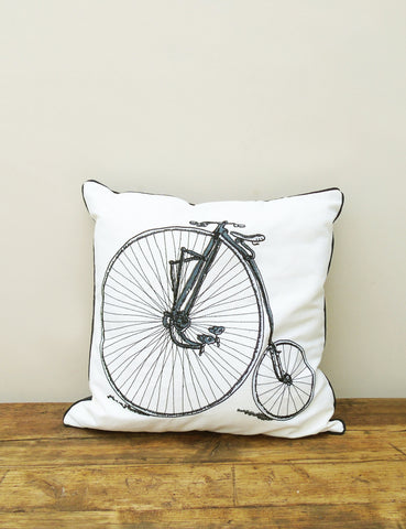 The Den & Now | Penny Farthing Cushion