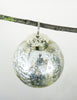 Pewter Stone Effect Glass Bauble Close Up