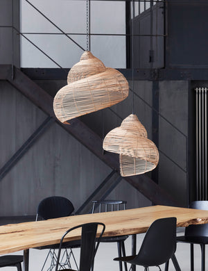 Rattan Natural Spiral Shell Light Shades