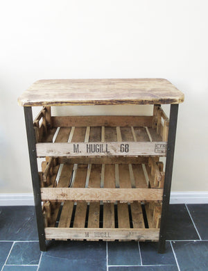 Reclaimed Industrial Wooden Shelving Unit