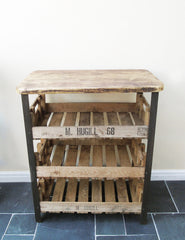 Reclaimed Industrial Wooden Shelving Unit | The Den & Now