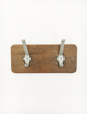 Reclaimed Wooden Coat Wall Rack